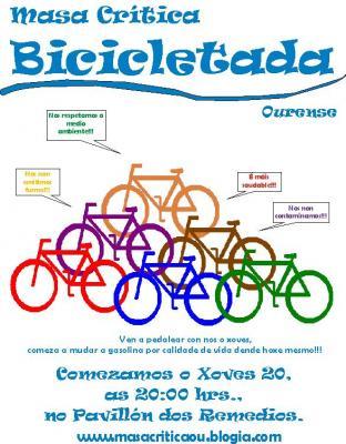 1º Bicicletada en Ourense...