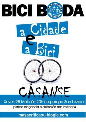 """A Bici e a Cidade de Ourense """"CÁSANSE"""", ven celebralo"""
